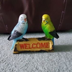 Budgies welcome sign